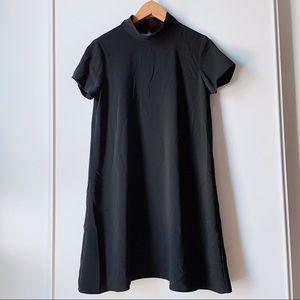 Amanda Uprichard black short sleeve Connor dress